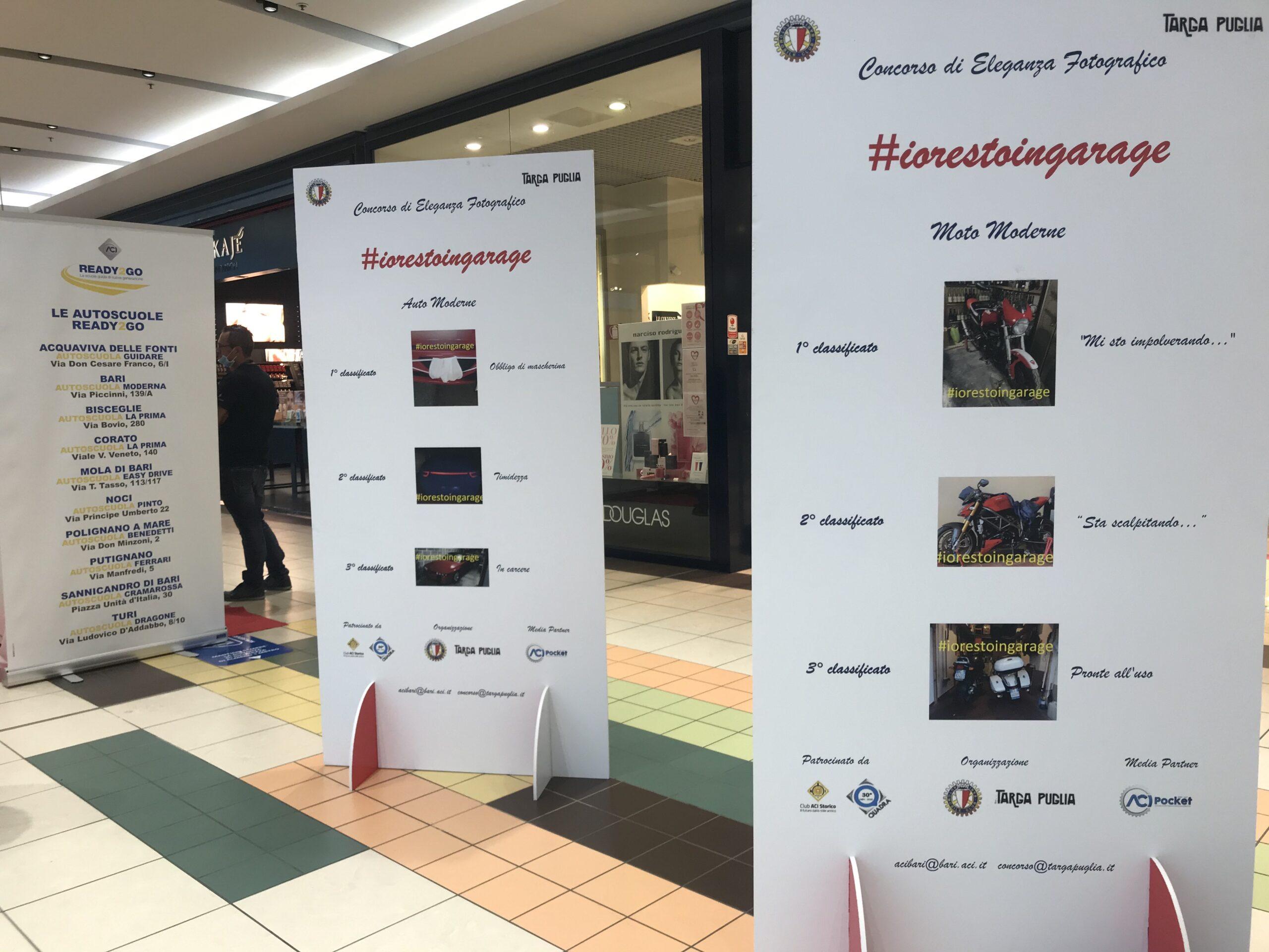 Aci Bari-Bat all'Expo Auto Moto: in mostra le foto vincitrici del concorso #IoRestoInGarage