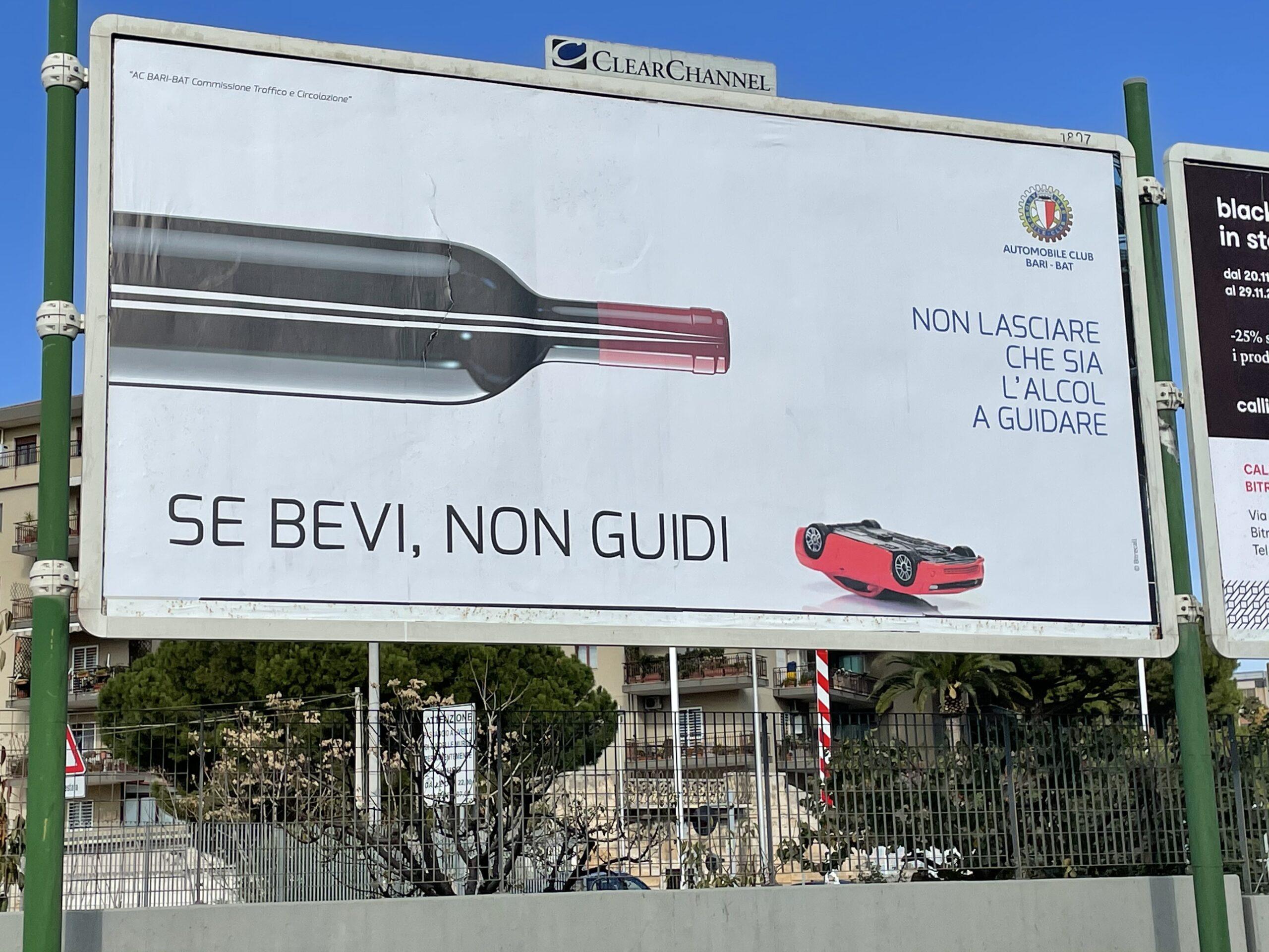 Messaggi diretti e visual d'impatto: nuova campagna di sensibilizzazione sulla guida sicura di Aci Bari-Bat
