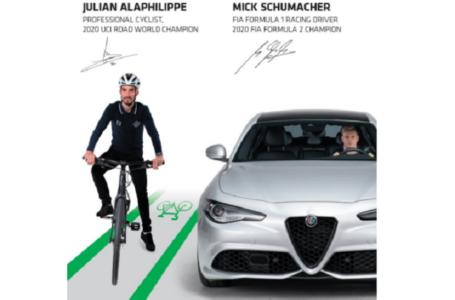 Mick Schumacher e Julian Alaphilippe per la campagna globale sulla sicurezza stradale #3500LIVES