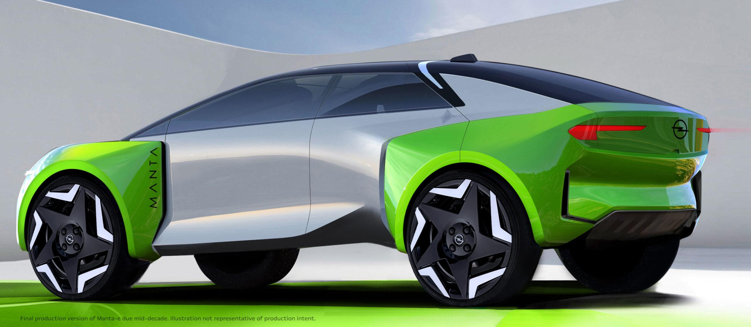 Opel diventa totalmente elettrica, entra nel mercato cinese e lancia la Manta-e