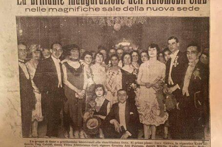 Nel 1925 l'inaugurazione della prima sede dell'Automobile club pugliese: la foto storica