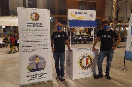 Guida sicura sui monopattini, ieri a Bari l'evento con Bit e Aci per sensibilizzare al tema